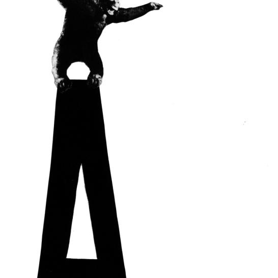 """A"", dibujo y collage sobre papel Canson A5"