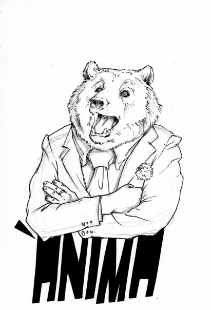 """""""Ánima"""", dibujo y collage sobre papel Canson A5"""