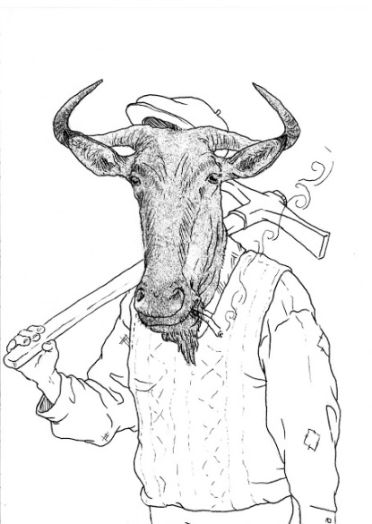 """Tío Francisco"", dibujo y transfer 14,5x20,5 cm"