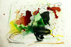 """""""WomAN"""". Serigrafía, carbón, tinta de gel, posca, lápiz, acrílico sobre madera imprimada, 100x70 cm."""